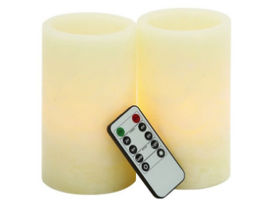 Ivory LED flameless Wax Pillar Candle