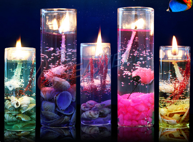 Scented Color ocean Jelly glass tea light