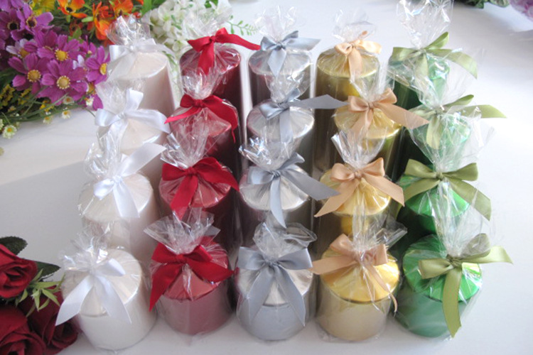 Gift packaging pillar candles