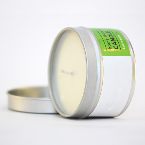 Pure natural scented candle in tin jar fo